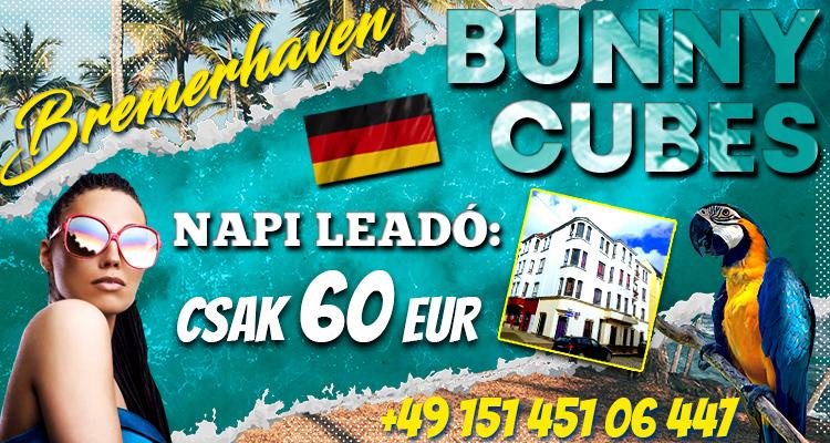 Napi 60 EUR fix leadó Észak Németországban, Bremerhaven-ben